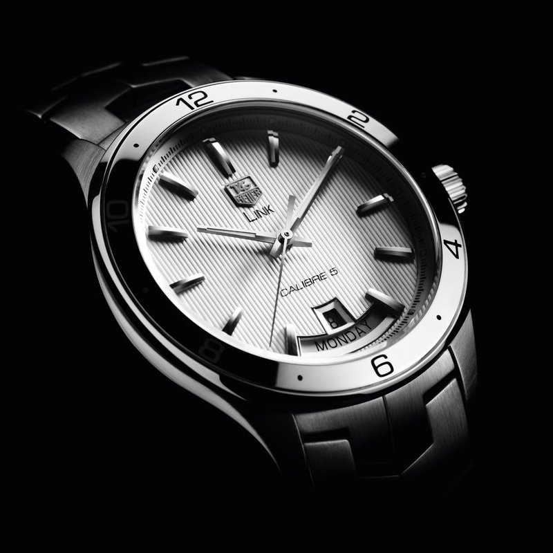 Tag Heuer Link Calibre 5 Day-date banner