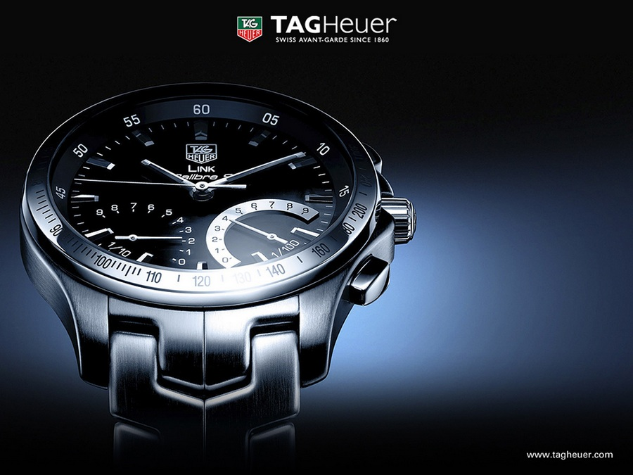 Tag Heuer Link Calibre S 1/100th Sec banner